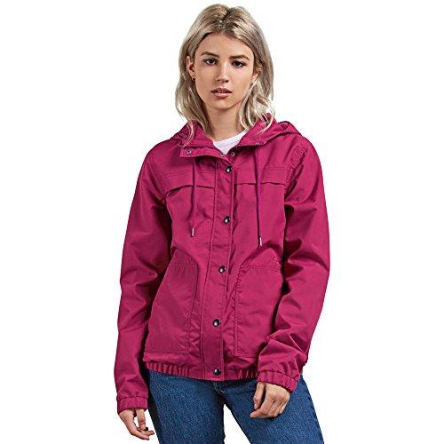 - Volcom Junior's Enemy Stone Hooded Zip Front Windbreaker Jacket
