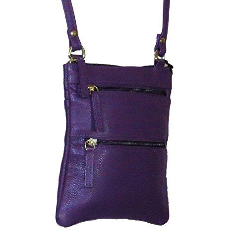 Handbag Genuine Pielino 131 Leather Crossbody Blue Mini qUPPwIxHT