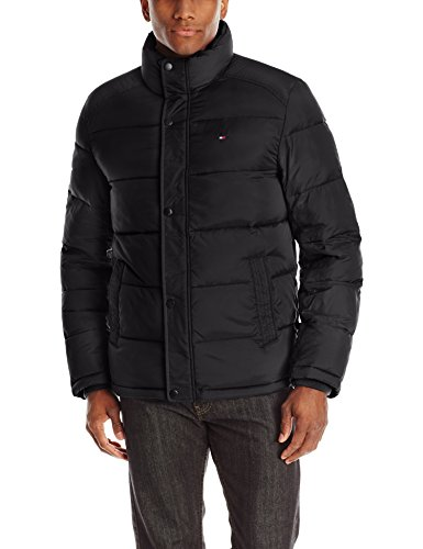 Puffer Mens (Tommy Hilfiger Men's Classic Puffer Jacket, Black, Large)