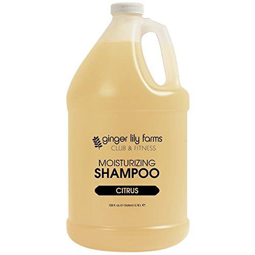 Ginger Lily Farms Club & Fitness Citrus Moisturizing Shampoo, 100% Vegan, Paraben, Sulfate, Phosphate, Gluten & Cruelty-Free, 1 gallon ()