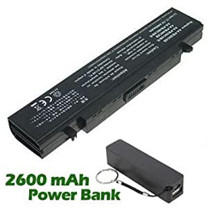 Battpit Bateria de repuesto para portátiles Samsung AA-PB4NC6B/E (4400 mah) con 2600mAh Banco de energía / batería externa (negro) para Smartphone