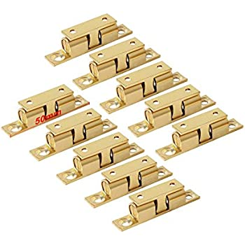 Lootich Brass Door Double Ball Tension Catches 50mm For