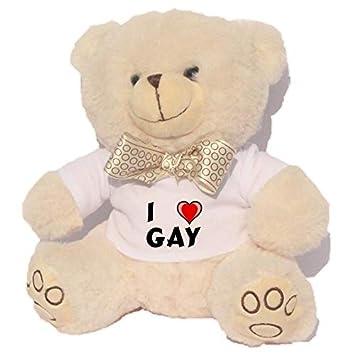 De Peluche Camisetanombre Amo Pila Blanco Gay Oso Con En La ZN8wP0nOkX