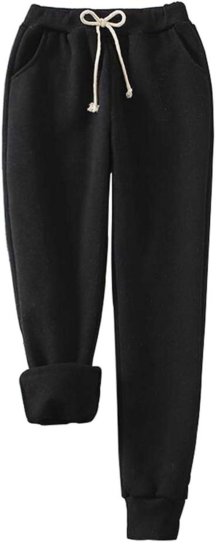 Majome Pantal/ón el/ástico de Invierno para Mujer Pantalones el/ásticos Calientes Pantalones t/érmicos Delgados con Forro Polar c/álido