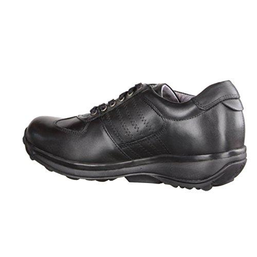 XSENSIBLE England 300013009- Bequemschuhe/Lose Einlage Damenschuhe Bequeme Schnürschuhe, Schwarz, stretchleder, Absatzhöhe: 20 mm