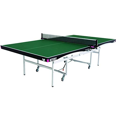 Butterfly Space Saver 22 Rollaway Table Tennis Table | 5 Year Warranty | 22mm Top for Professional Table Tennis | Strong Steel Frame | USATT Approved Folding Ping Pong Table