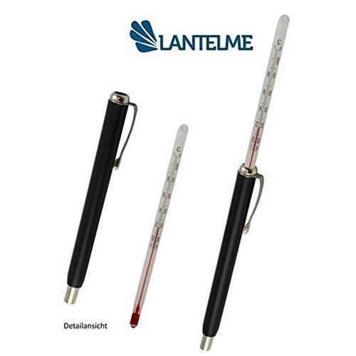 Lantelme Universal Thermometer mit Schutzhülle ( Kugelschreiber Design ) für Getränke , Tee oder auch Wein für Haus , Camping und Reise . Farbe schwarz