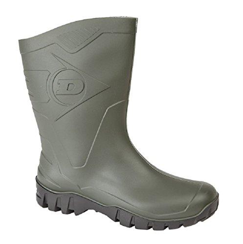 Dunlop Dee Kurzstiefel -Gummistiefel,Regenstiefel, Arbeitsstiefel Green Pvc