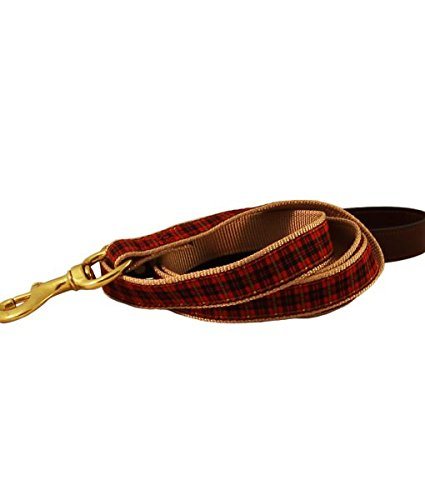 American Traditions Ribbon Leash 1 X 72 RED Plaid