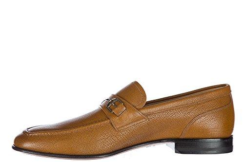 Bally Menns Skinn Loafers Mokasiner Brian Brun