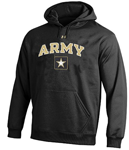 Under Armour Army (Army Black Knights Men's Black Under Armour Performance ColdGear Hooded Sweatshirt (S=36))