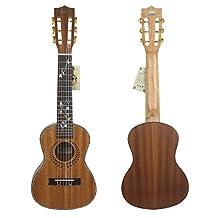 "HJUNS 28"" Guitalele Guitarlele Guilele Travel Guitar Solid Cedar Rosewood Fretboard Bridge Stringed Instrument with Free String and Bag"