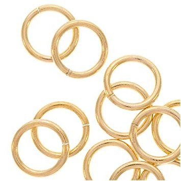 14K Gold Filled Open Jump Rings 6mm 20 Gauge - Jump Rings Filled