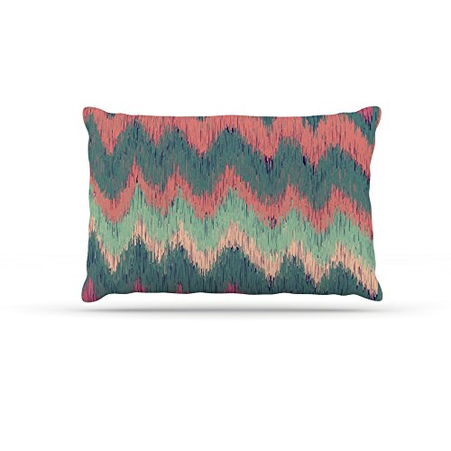 Kess InHouse Nika Martinez Ikat Chevron  Fleece Dog Bed, 50 by 60 , Multicolor