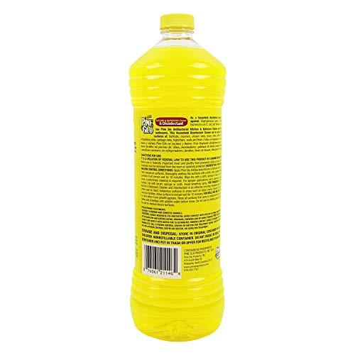 Pine Glo Antibacterial and Disinfectant Cleaner, Hospital Grade and EPA Registered. Lemon Scent 40 Fl oz Bottle