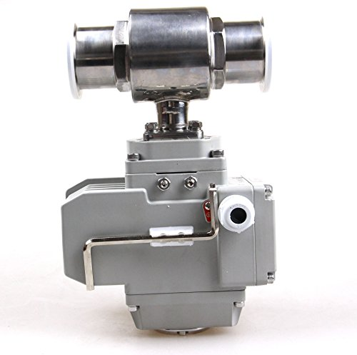 "HSH-Flo 1-1/2"" Stainless Steel 304 Tri Clamp Motorized Electric Actuated Ball Valve AC220V (1-1/2"