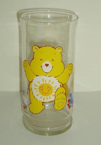 CARE BEARS Funshine BEAR Pizza Hut LIMITED EDITION Glass - Hut Sunshine