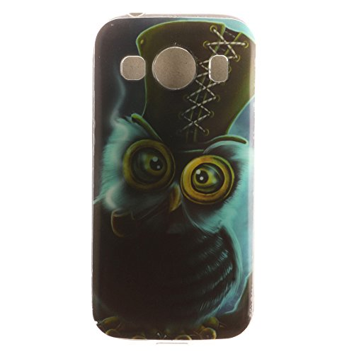 [Big Eyes Owl] Galaxy Ace Style LTE Case, XYX New Cover Case [Scratch-Resistant] [Shock Absorbent] [Silm Fit] Design Flexible TPU Protective Cover Case for Samsung Galaxy Ace Style LTE G357 (Samsung Ace Style Phone Covers)
