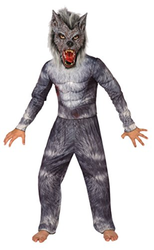 Boys Werewolf Kids Child Fancy Dress Party Halloween Costume, S (4-6) (Toddler Wolf Costume)