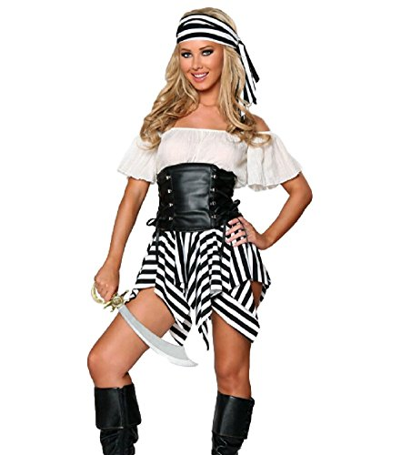 SAKURA-S-Womens-Sexy-Swashbuckler-Pirate-Costume-BlackWhite  sc 1 st  Selling Scared : swashbuckler pirate costume  - Germanpascual.Com