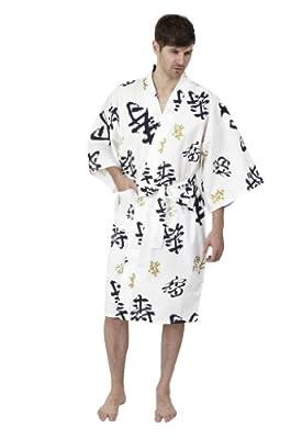 Beautiful Robes Men's Happy Longevity Kimono Short