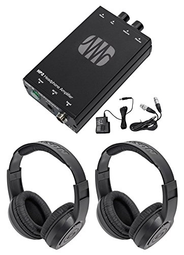 Presonus HP2 2 Channel Stereo Headphone Amplifier System HP-2+Samson Headphones by PreSonus