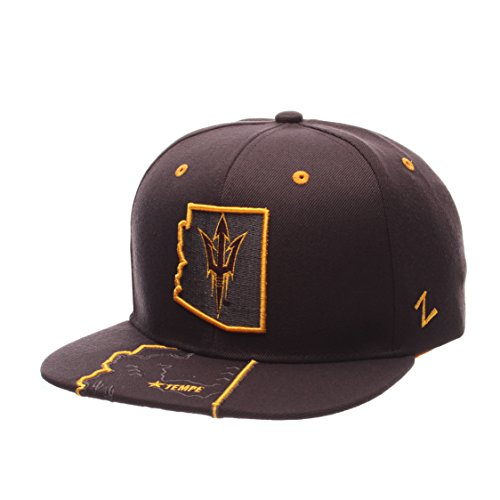 NCAA Arizona State Sun Devils Men's Stateline Snapback Cap, Adjustable Size, Charcoal