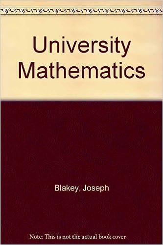 University Mathematics: Joseph Blakey: 9780216873896: Amazon