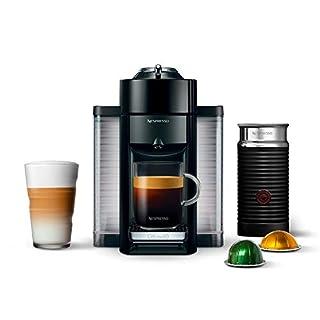 Nespresso Vertuo Coffee and Espresso Machine Bundle with Aeroccino Milk Frother by De'Longhi, Black