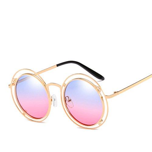 Anillo Conducción Sol De Gafas Irregular Personalidad Retro Antideslumbramiento Brown Doble Gafas Natural Unisex SI6qO