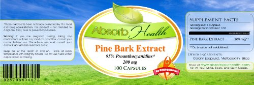 Absorb Health Pine Bark Extract 200mg Capsules 100 Count Discount