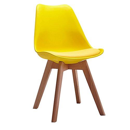 Amazon.com: KXBYMX Silla de salón de madera maciza, taburete ...