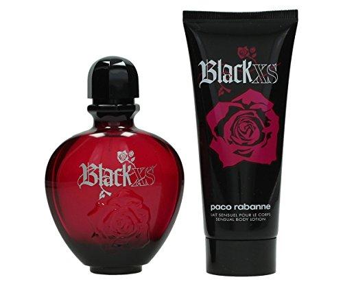 Black Xs By Paco Rabanne For Women Edt Spray 2.7 Oz & Body Lotion 3.4 Oz