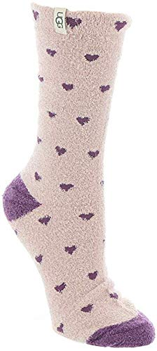 UGG Women's Leslie Graphic Crew Sock, Hearts, O/S