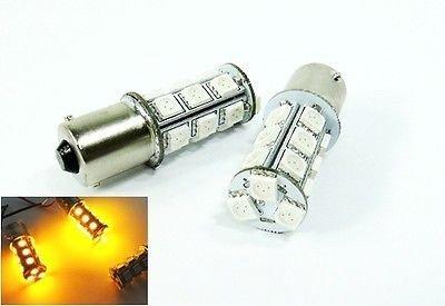LEDIN 2x Amber High Power 18 SMD LED Back Up Reverse Light Bulb 1156 BA15s 7506 3496 (71 Chevelle Led Tail Lights)