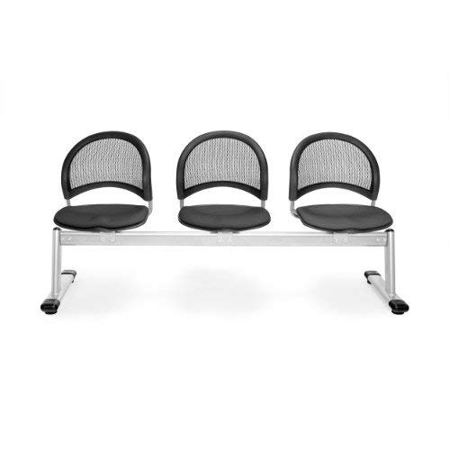 - OFM 333-2213 Moon 3-Unit Beam Seating with 3 Seats, Slate Gray