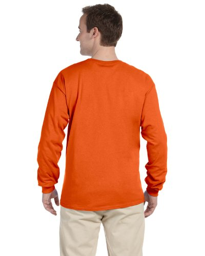 A The Loom Of Robusto Fruit Arancio shirt Bruciato Cotone 4930r Lunga Manica T In w4Xxxf