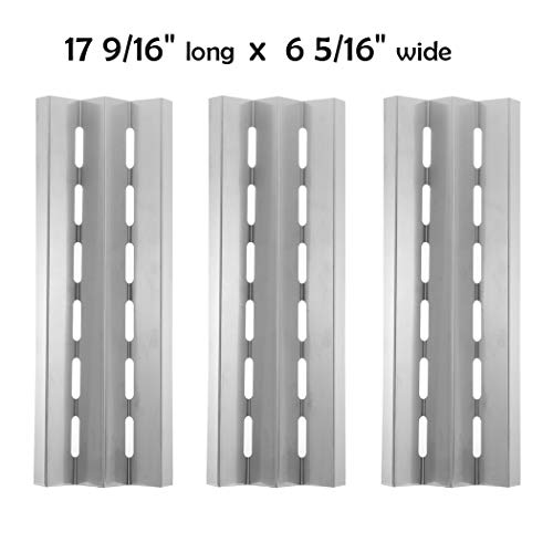 BBQSAVIOR SP83 BBQ Parts Heat Shield Plate Replacement for Select Broil King, Broil-Mate and Other Barbecue Gas Grill Models, 17 9/16 x 6 5/16 inch, ...