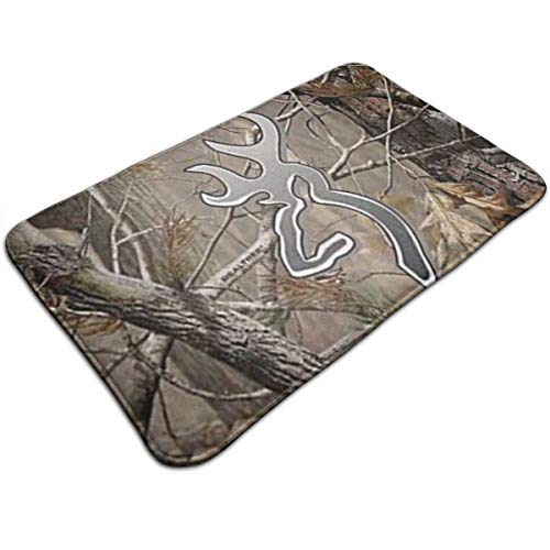 Ruwoi6 Camouflage Realtree Duty Doormat, Indoor Outdoor, Waterproof, Easy Clean, Low-Profile Mats for Entry, Garage, Patio, High Traffic ()