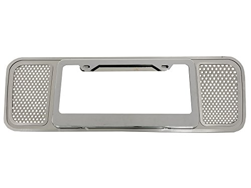(2005-2013 Corvette Perforated Rear License Plate Frame Stainless Steel)