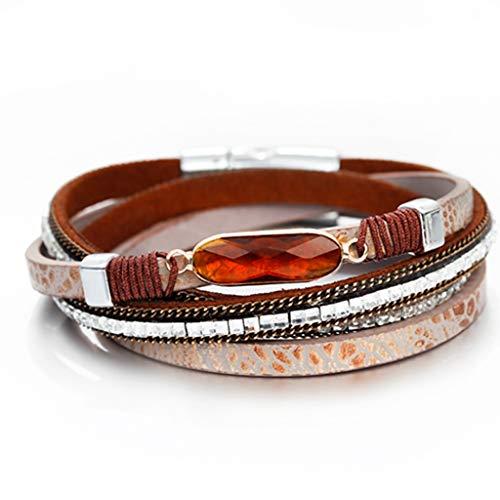 Multilayer 3 Color Bracelets for Women Wrap Bracelets Charms Trendy Jewelry Femme Fashion Wedding Accessories