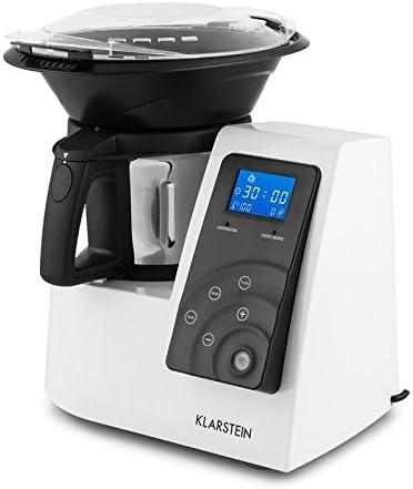 Klarstein Kitchen Hero • Robot de cocina multifunción • batidora • hasta a 10 000 rpm • Potencia 600 W, 9 velocidades. blanco: Amazon.es: Hogar