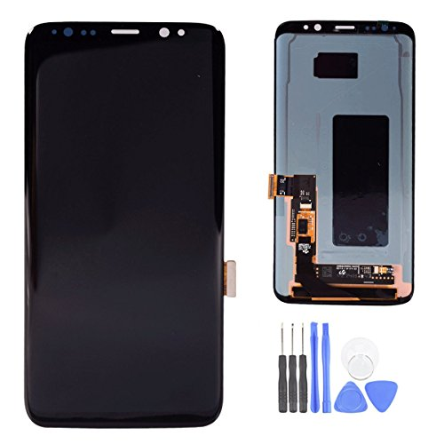 For Samsung Galaxy S8 LCD Digitizer Screen Touch Assembly Replacement LCD Display Midnight Black 5.8 inch by SpeedyGadget by speedygadget (Image #1)