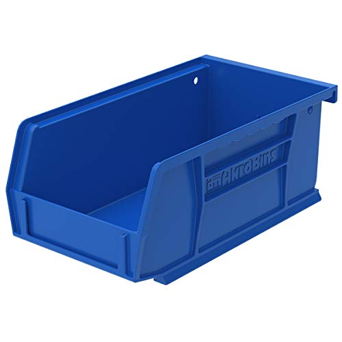 (Akro-Mils 30220 Plastic Storage Stacking Akro Hanging Bin, 7-Inch by 4-Inch by 3-Inch, Blue, Case of 24)