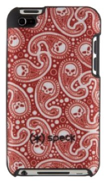 Speck Products SPK-A0112 Fitted Hard Case with Fabric for iPod Touch 4G - MisKerChief Red (Ipod Touch 4g Speck Case)