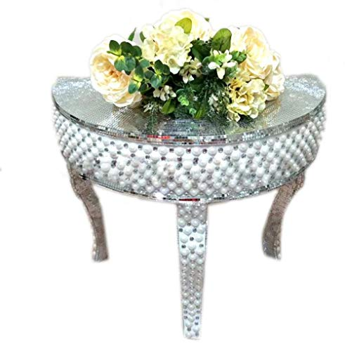 (My Aashis Event Polystone Mosaic Mirrored Centerpieces Table 653460)