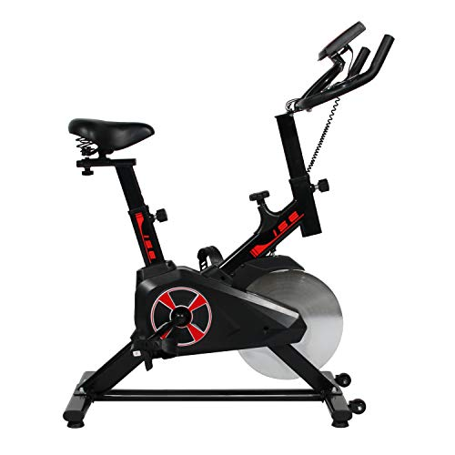 soges Exercise Bike with LCD Display Stationary Indoor Cycling Bike Spin Bike Peloton Bike for Fitness, Up to 330lbs, JS-2019