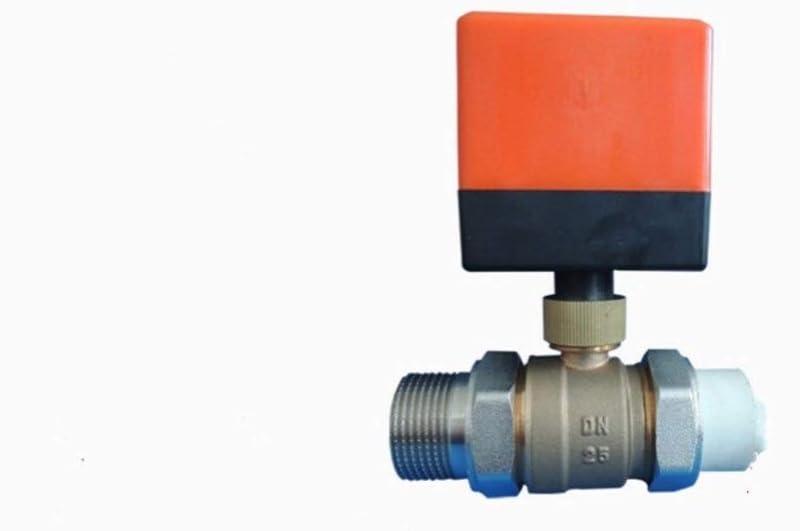DN25 electric actuator valveBrass Motorized Ball Valve electric Three line two way control valves DC5V DC12V AC24V AC220V Inlet Specification : DC5V