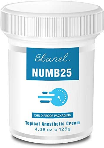 Numb25 Lidocaine 5% Topical Numbing Cream, Max Strength 4.38oz Painkilling Anesthetic Ointment Rub with Liposomal Technology, Relief Local Anorectral Discomfort