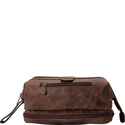 Amerileather Leather Toiletry Bag Brown - 2